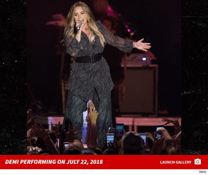 Demi Lovato Performing July 22, 2018