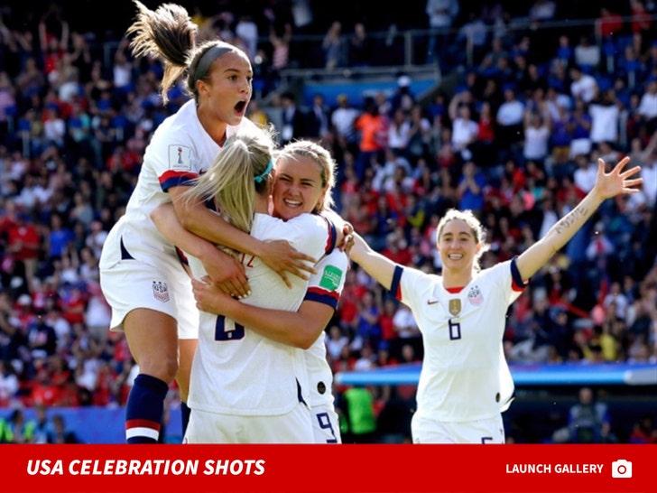 Women's World Cup -- USA Celebration Shots