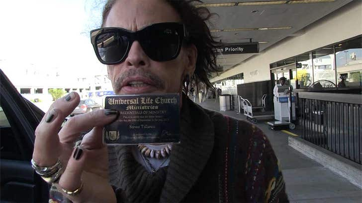 Steven Tyler Says He's Now An Ordained Minister And He's ...