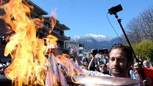 Olympic Torch Relay Suspended After Gerard Butler 'Sparta' Ceremony