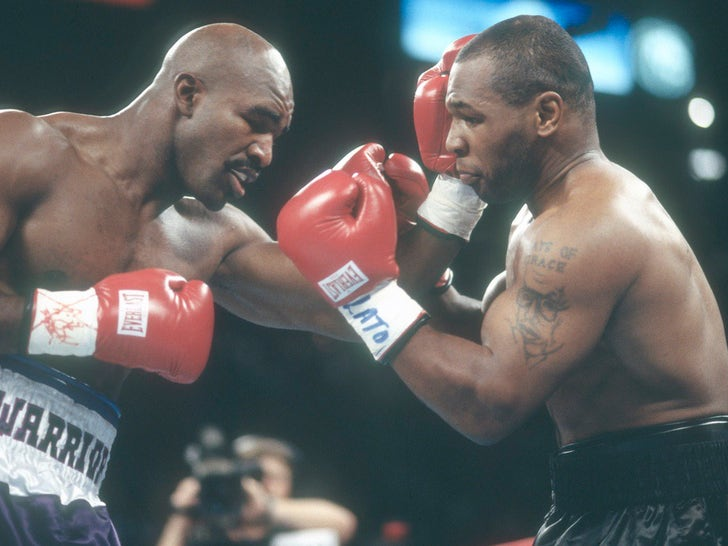 Evander Holyfield vs. Mike Tyson -- Fight Photos
