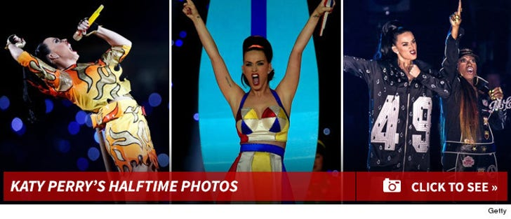 Katy Perry's Super Bowl Performance Photos