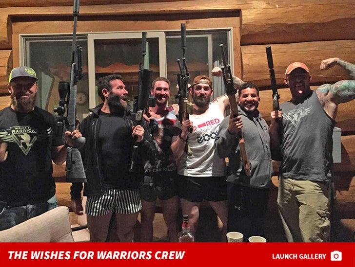 Dan Bilzerian and the Wishes for Warriors Crew