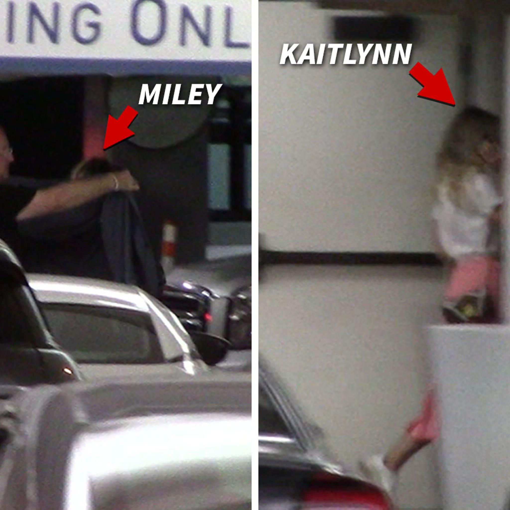 Miley Cyrus & Kaitlynn Carter Crash West Hollywood with Mom, Tish