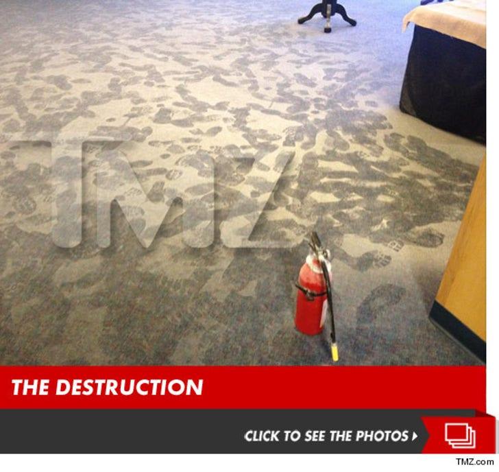 Mayhem's Fire Extinguisher Aftermath