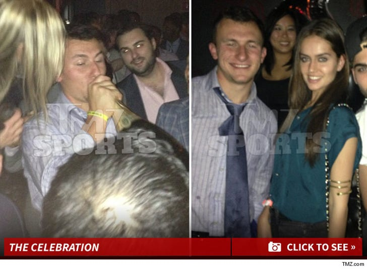 Johnny Manziel's Draft Celebration Photos