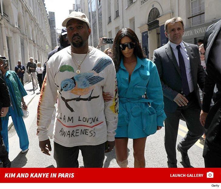 Kim Kardashian and Kanye West -- Back in Paris