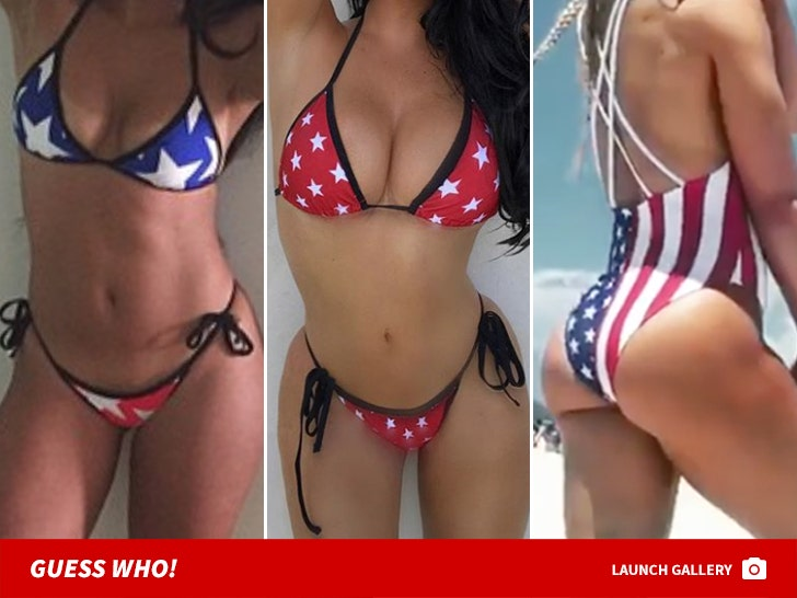 American Flag Swimsuits -- Guess Who!
