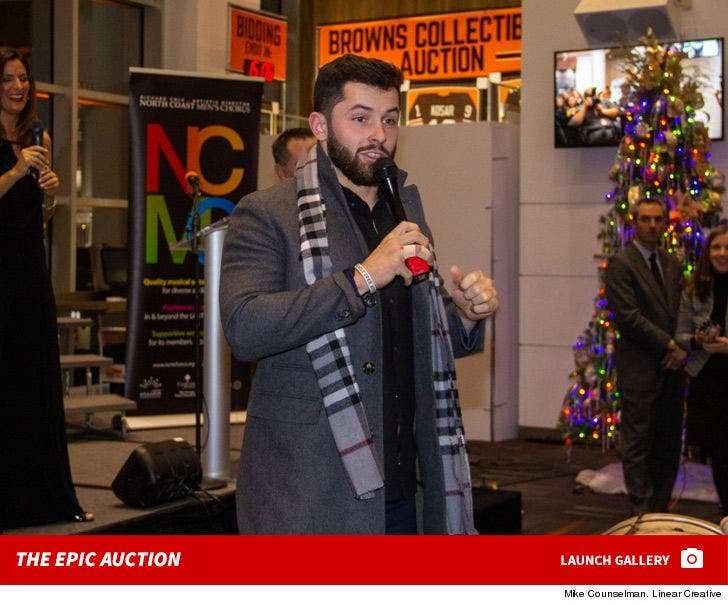 Baker Mayfield Dinner Dates with Fiancee Auctioned Off