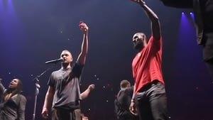 Justin Timberlake and LeBron James Take Shots at Cleveland Concert