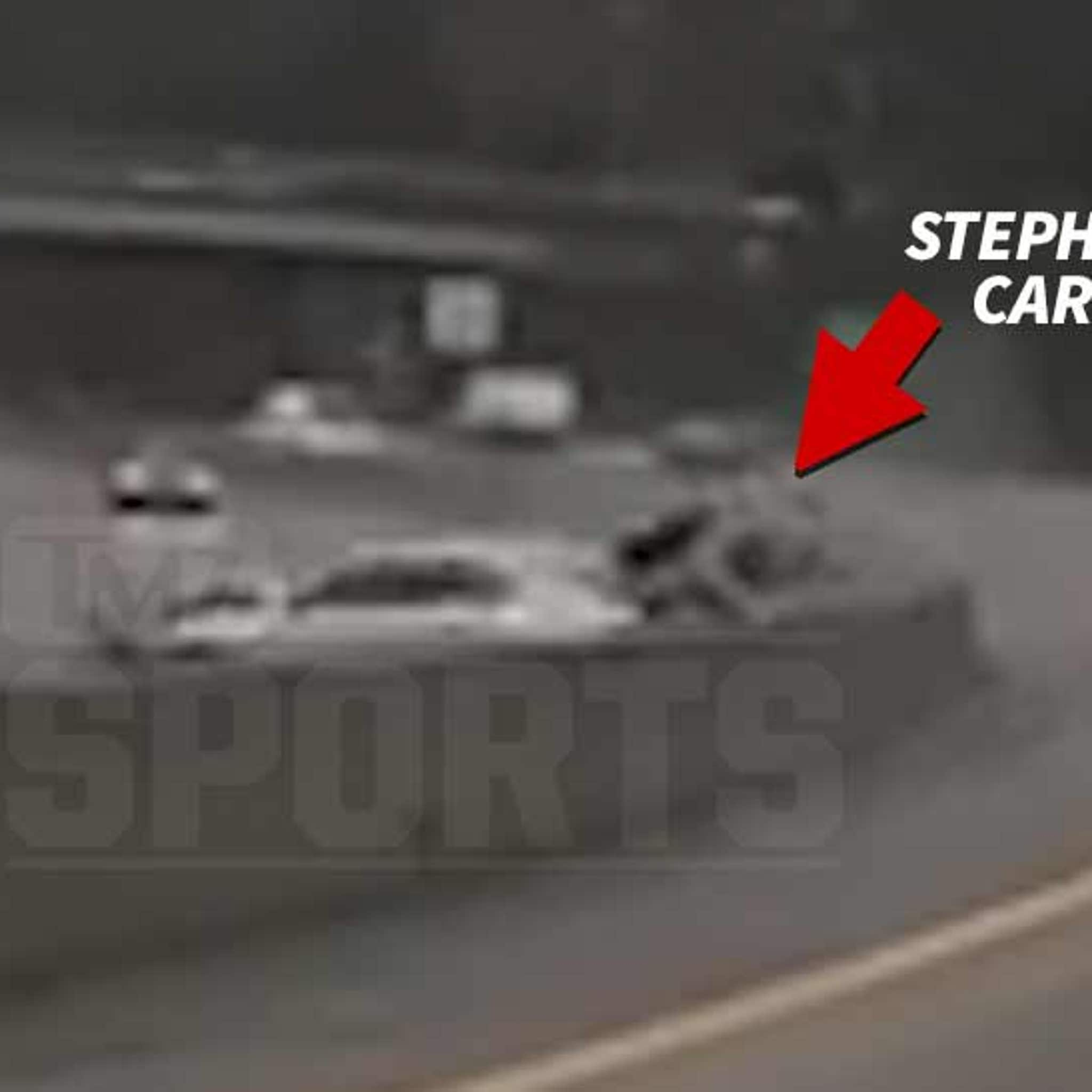 Steph Curry Crash Video Shows Porsche Smashed By Out of