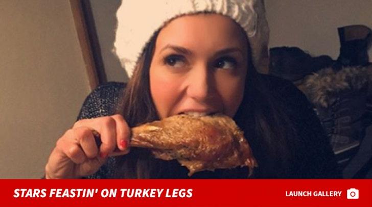 Stars Feastin' On Turkey Legs -- Happy Thanksgiving!