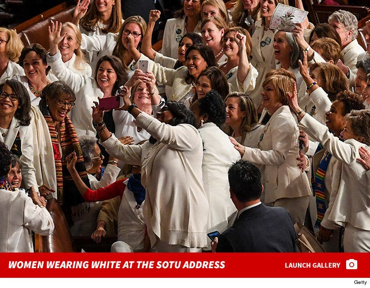 Women Wearing White at the State Of The Union Address