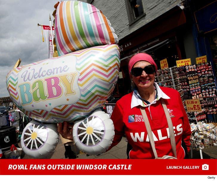 Royal Fans Outside Windsor Castle