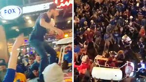 St. Louis Blues Fans Jump on Cars to Celebrate Stanley Cup