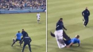 Dodger Stadium Security Manhandles Protestors Who Ran On Field