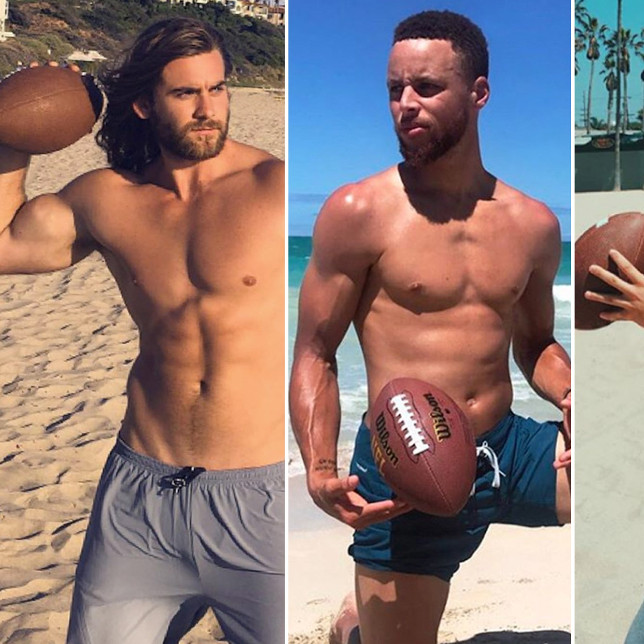 Jacked Stars Playing Football -- Don't Pass 'Em Up!!!