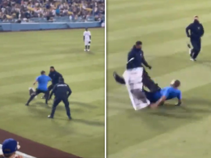Dodger Stadium Security Manhandles Protestors Who Ran On Field.jpg