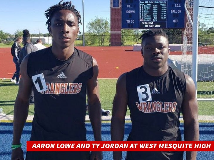Aaron Lowe and Ty Jordan At West Mesquite High
