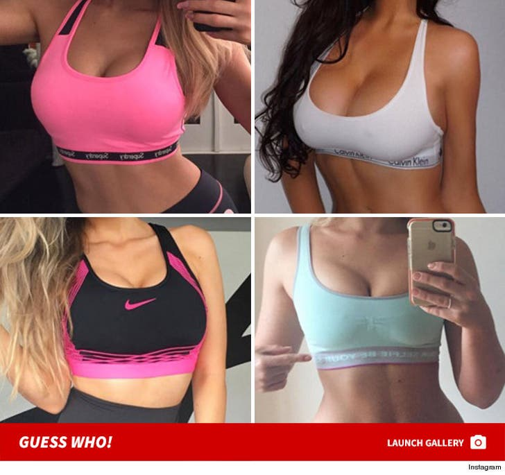 Stars Wearing Sexy Sport Bras -- Guess Who