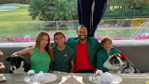 Tiger Woods Throws Private Masters Dinner for Kids and GF, 'Quarantine Style'