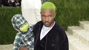 Frank Ocean Brings Green Robot Baby Doll with Him to Met Gala