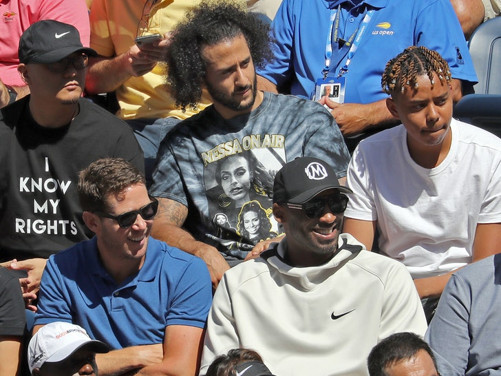 Colin Kaepernick Daps Up Kobe Bryant At U S Open
