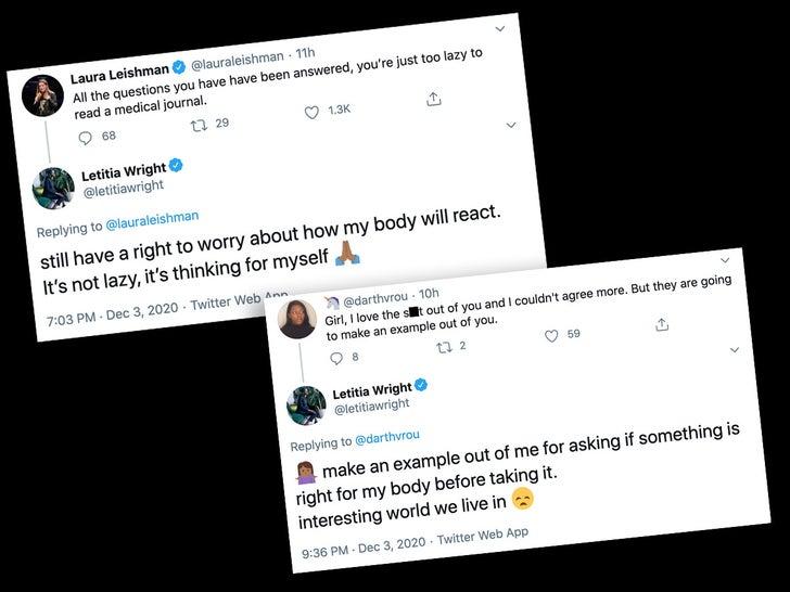 Letitia Wright Anti-Vaccine Tweets photos