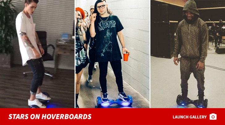 Celebrity Hoverboard Photos