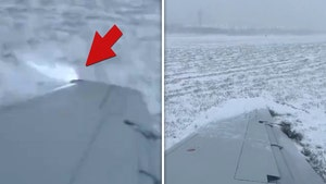 Plane Slides Off Runway at O'Hare Airport in Snowy Conditions