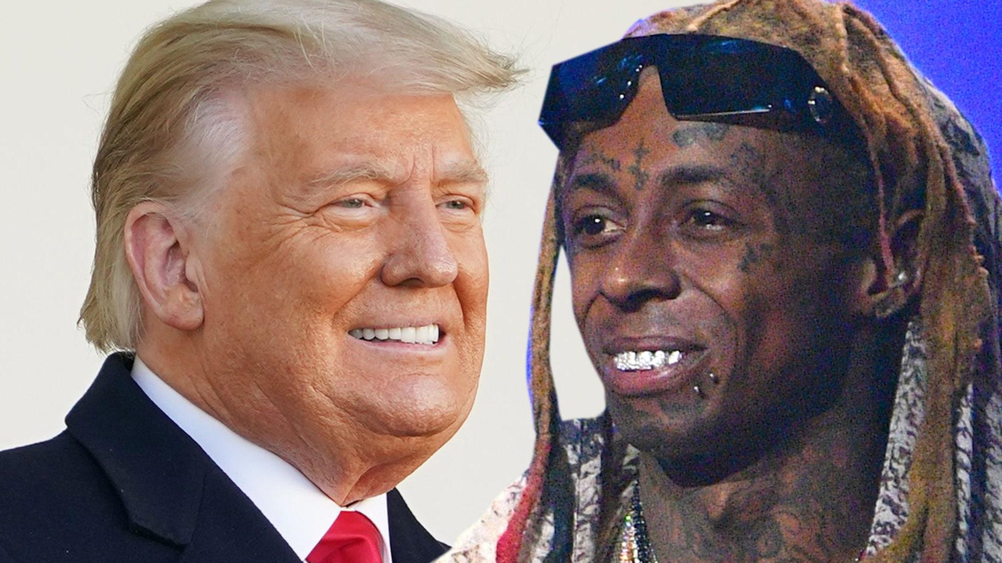 President Trump Pardons Lil Wayne