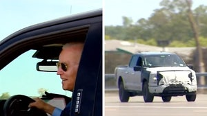 President Biden Speeds in New Electric Ford, Makes Bad Hit & Run 'Joke'