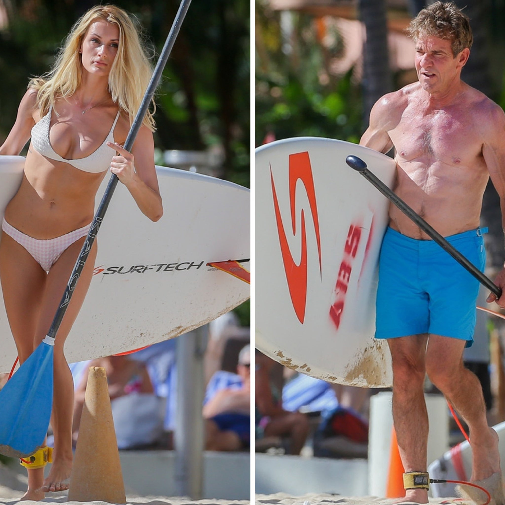 Dennis Quaid Looking Ripped with Young Girlfriend in Hawaii