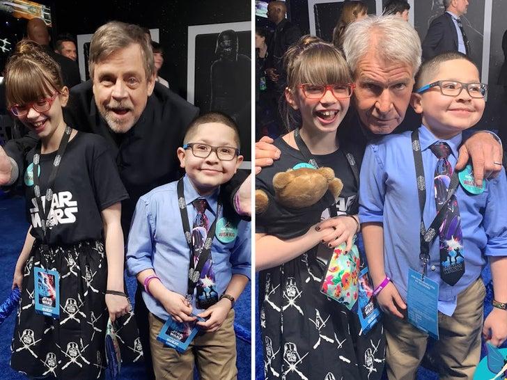 Harrison Ford Mark Hamill Grant Kids Wish Network Lifetime Experience