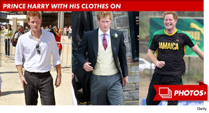 Prince Harry With His Clothes On