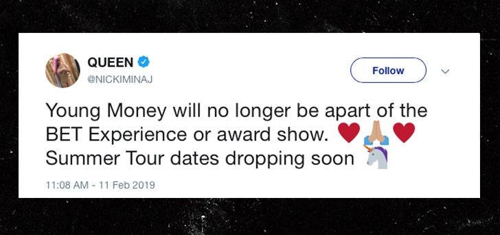 Bet Apologizes To Nicki Minaj For Unauthorized Tweet Trashing Her