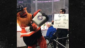 Philadelphia Flyers Mascot Gritty Roasts Houston Astros Cheating Scandal