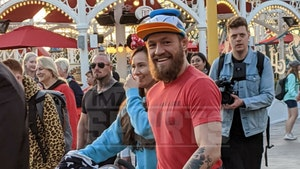 Conor McGregor All Smiles With Girlfriend at Disneyland