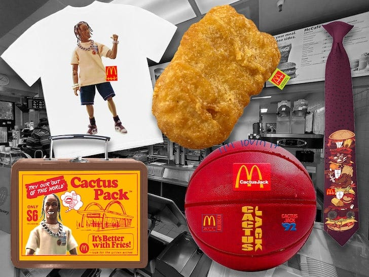 Travis Scott McDonald's Merch