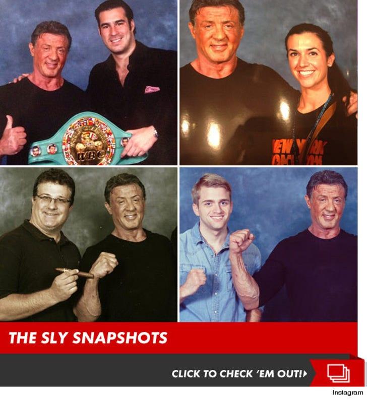 Sylvester Stallone's Pricey Comic Con Pics