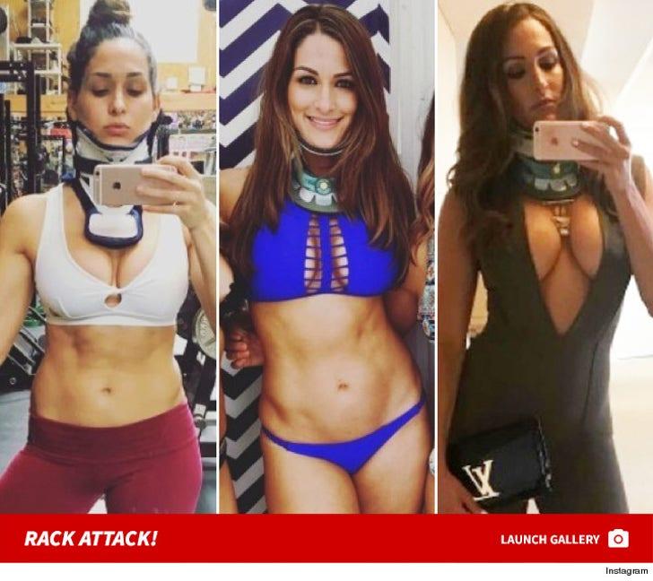 Nikki Bella's Bangin' Neck Brace Photos