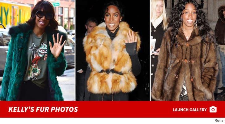 Kelly Rowland Wearing Fur