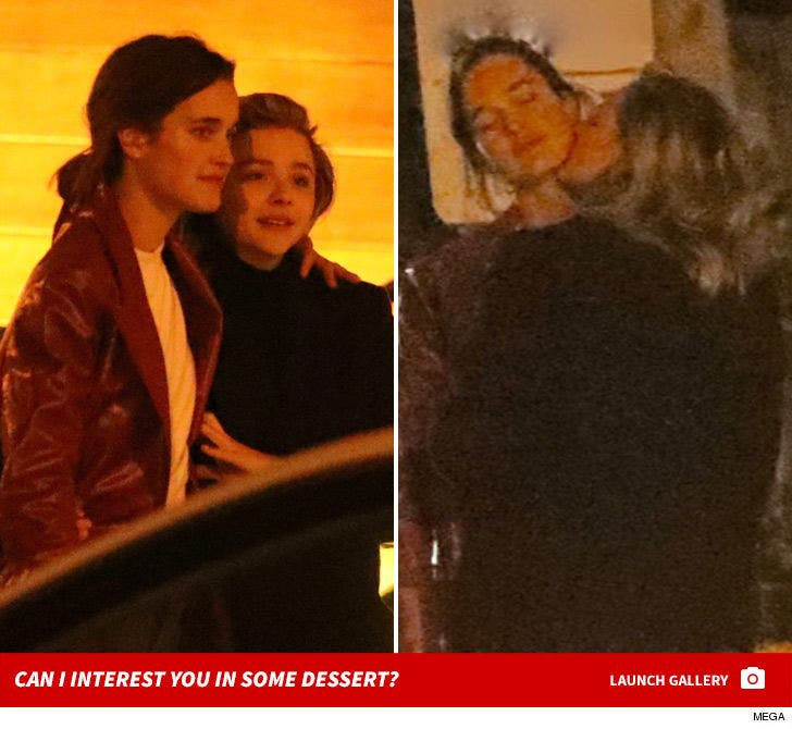 Chloe Grace Moretz Has Dinner and Makeout Session with Model Kate Harrison