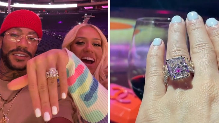 Derrick Rose Proposes to Girlfriend At Madison Square Garden, Massive Ring.jpg