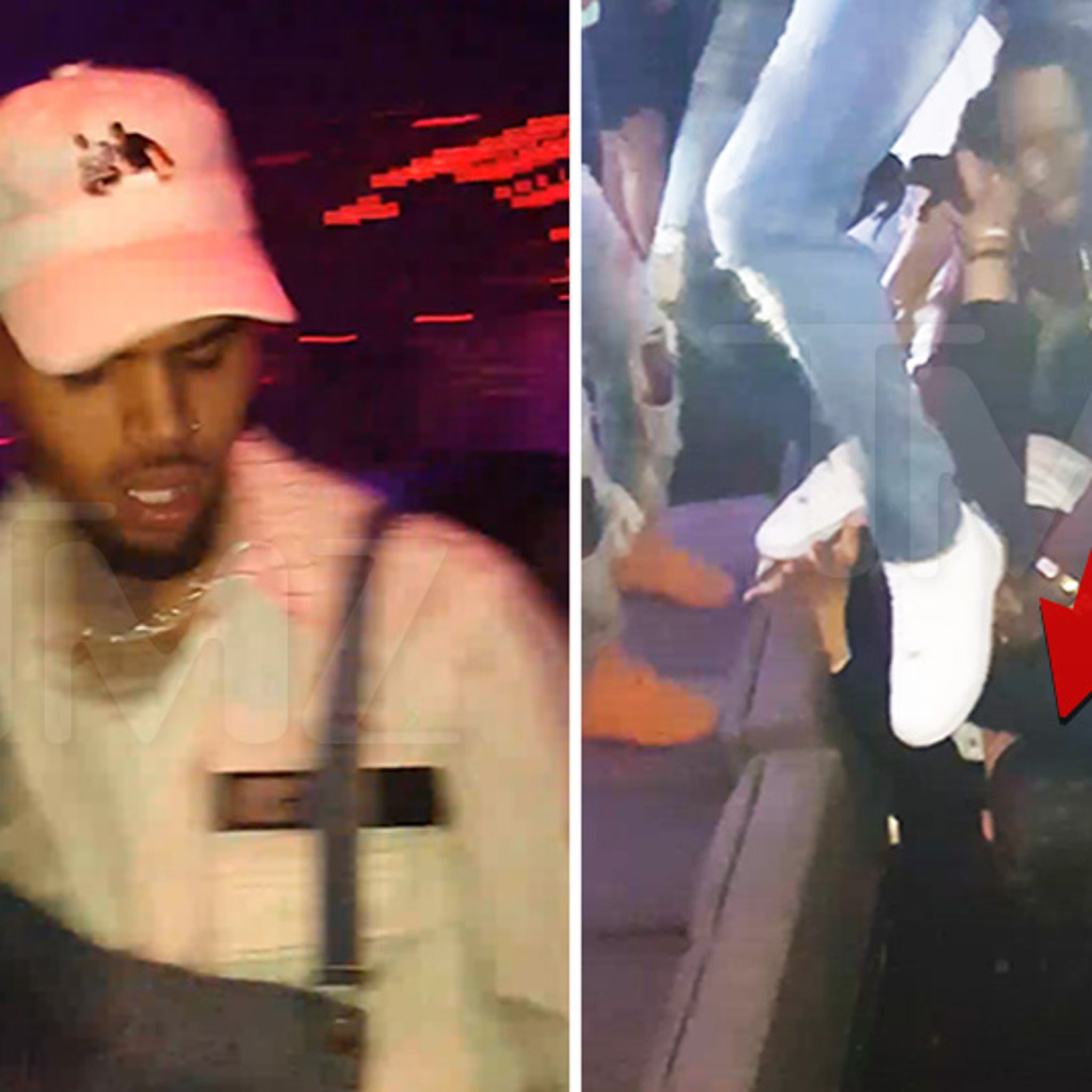 Chris Brown Head Stomps Fan at Concert