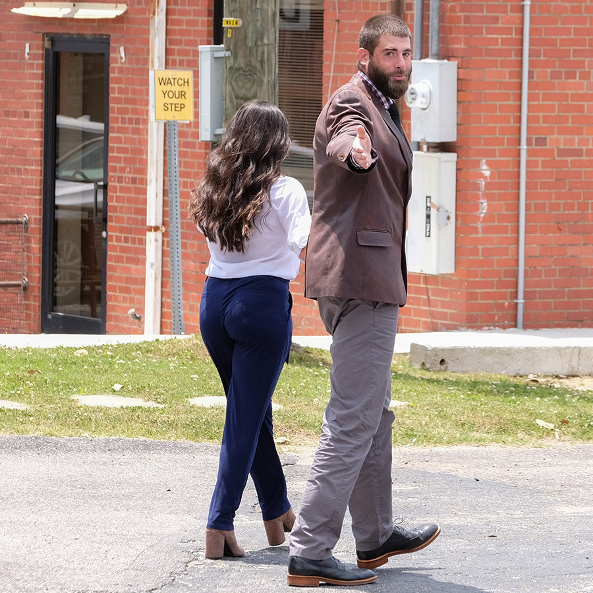 Jenelle Evans and David Eason in Court with Children in CPS Case
