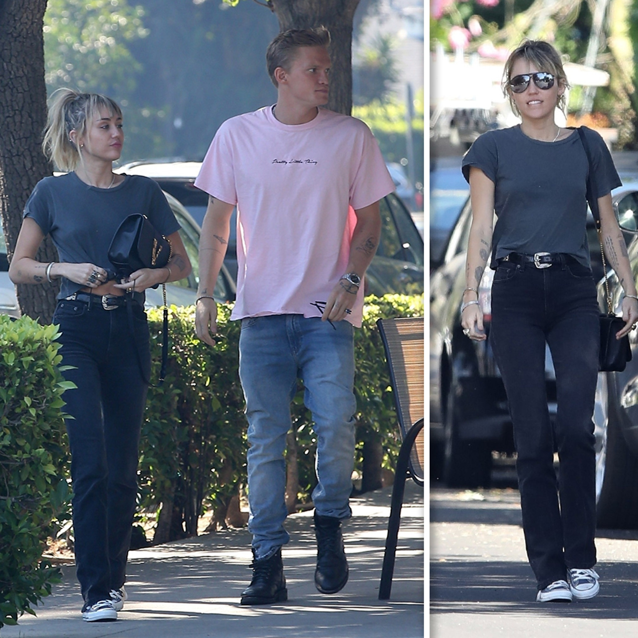 Miley Cyrus Enjoys Outing with Cody Simpson and Mom, Tish