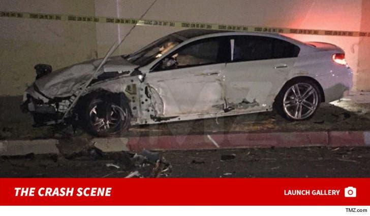 Blac Chyna's Car -- The Crash Scene