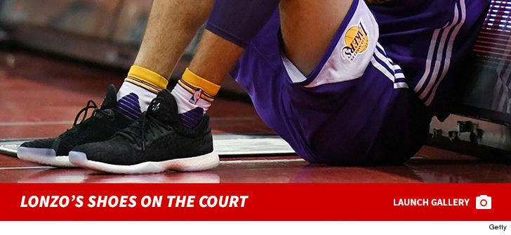 Lonzo Ball Shoes -- On the Court