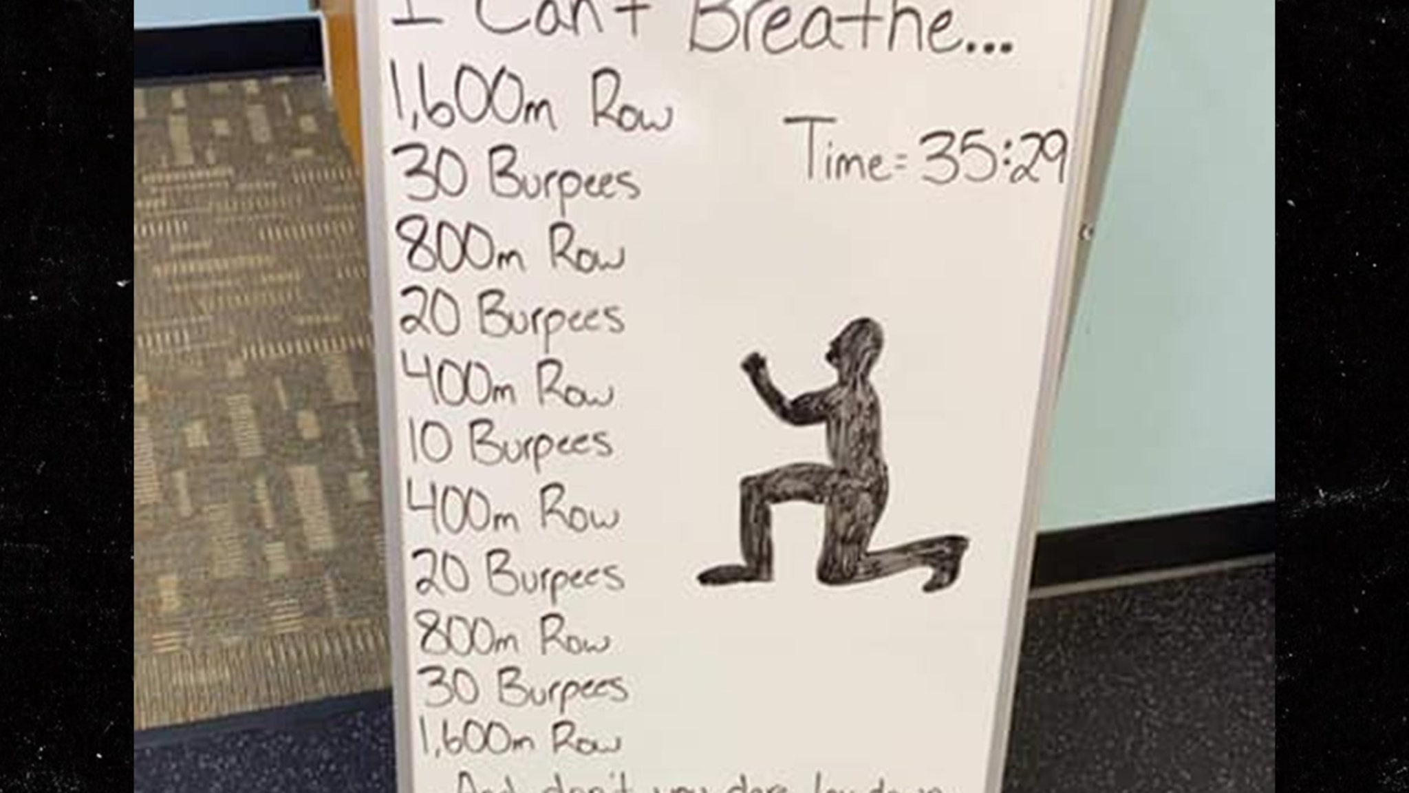 Wisconsin Gym Posts Offensive 'I Can't Breathe' Workout ... Owner Apologizes